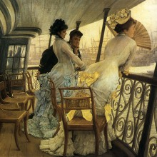 James Tissot, Sur le HMS Calcutta (1877). DR.